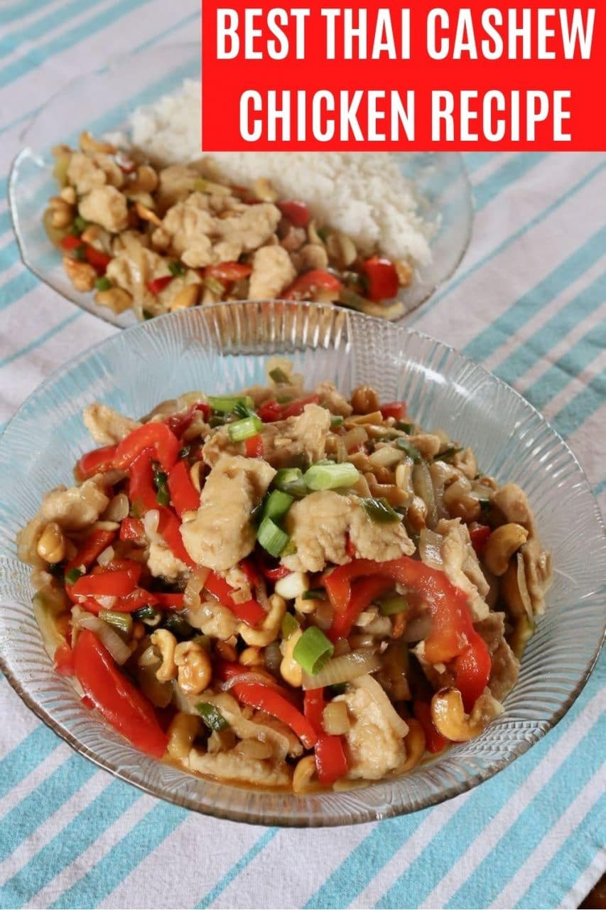 Save our Gai Pad Med Mamuang Thai Cashew Chicken recipe to Pinterest!