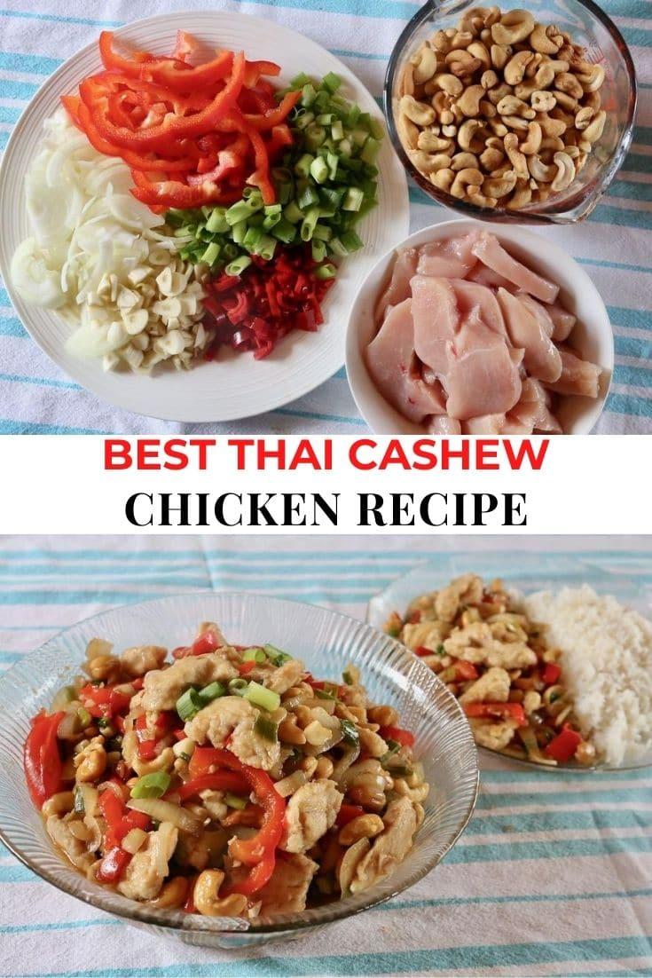 Save our Thai Cashew Chicken recipe to Pinterest!