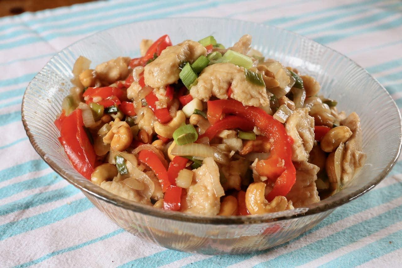Store leftover Thai Cashew Chicken in the fridge for 3-4 days.