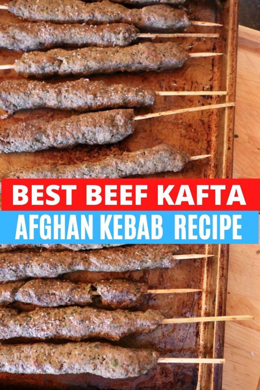 Save our Beef Kafta Afghan Kebab Recipe to Pinterest!