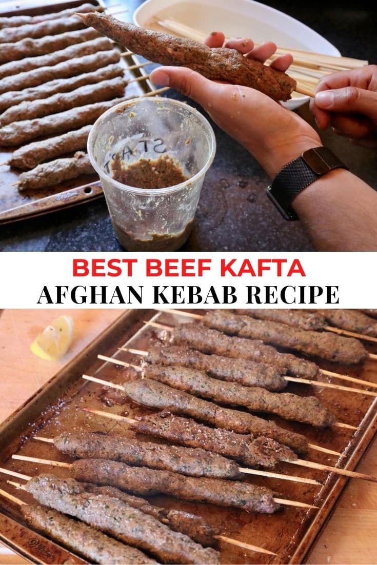 Save our traditional homemade Afghan Kebab recipe to Pinterest!