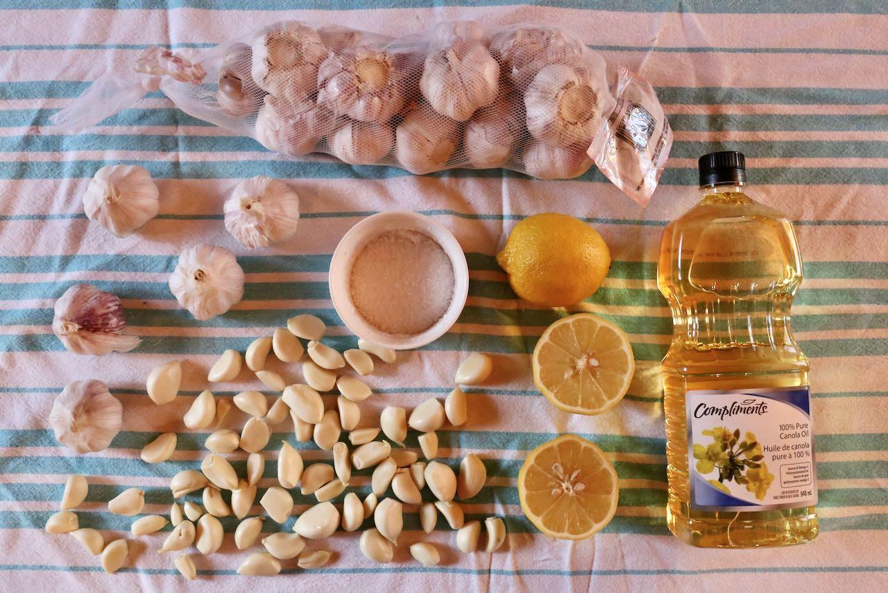 Ingredients you'll need to make Lebanese Kebab Garlic Sauce.
