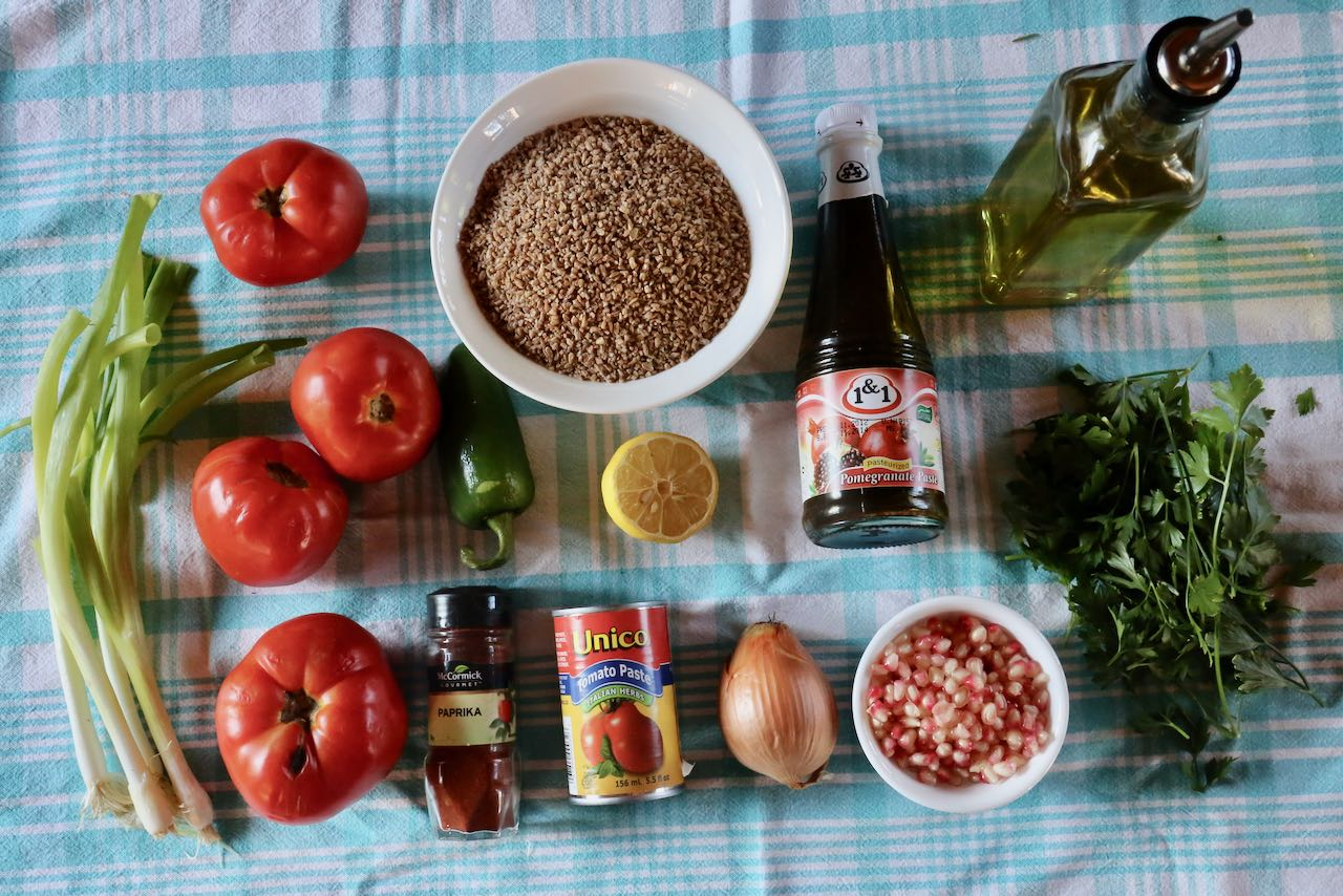 Ingredients you'll need to make our Turkish Kisir recipe.