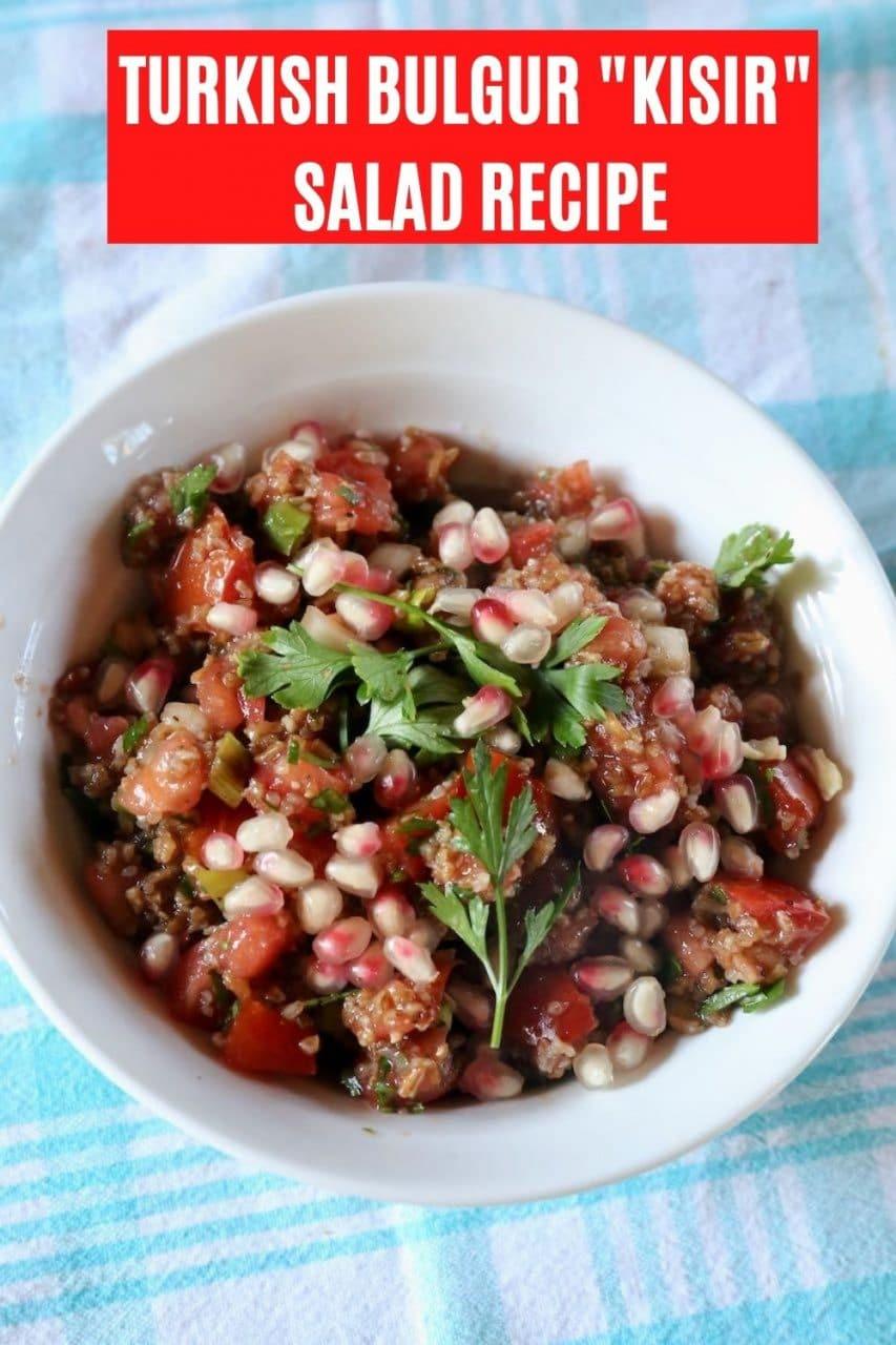 Save our Turkish Bulgur Salad Kisir recipe to Pinterest.