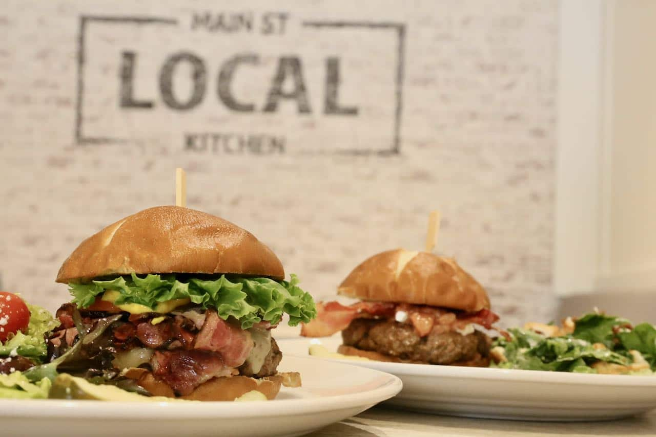 Main Street Local Kitchen serves delicious beef burger in downtown Huntsville.