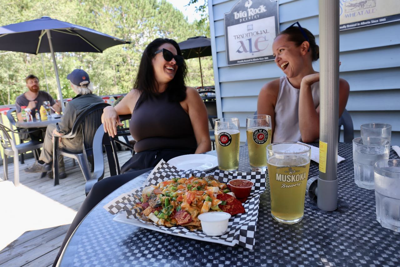 Muskoka on the Rocks is a popular pub just outside of Huntsville.
