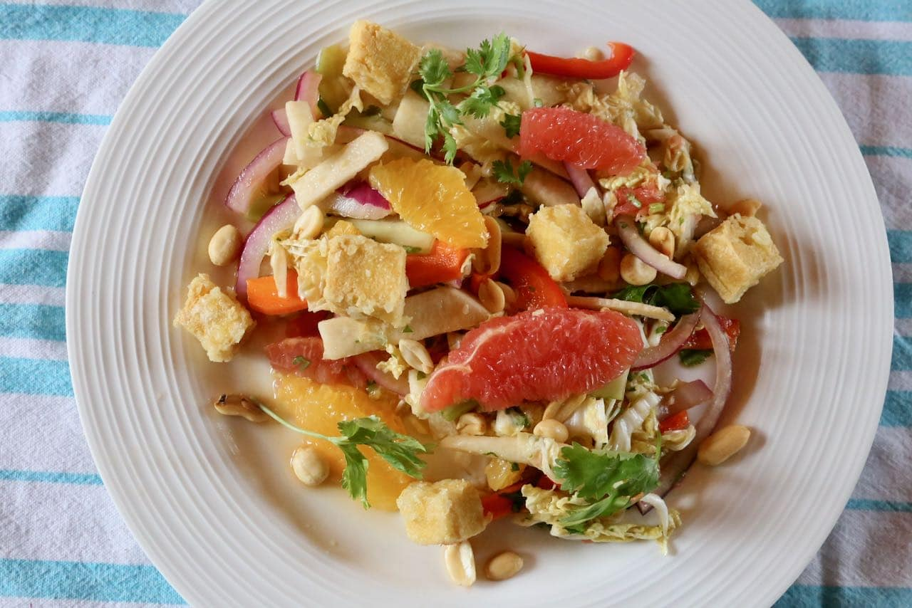"Easy Citrus ""Rojak"" Singapore Salad Recipe"