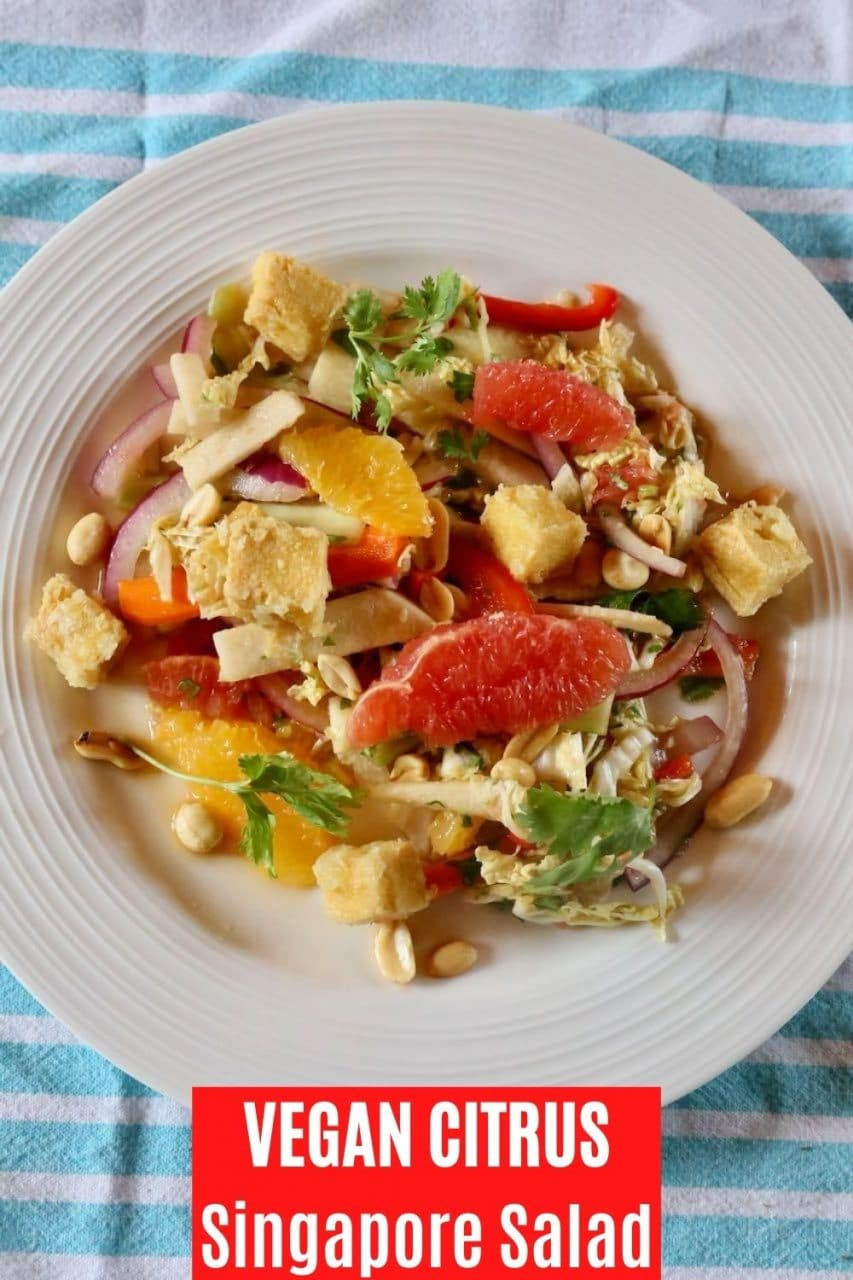 Save our Singapore Salad Recipe to Pinterest!