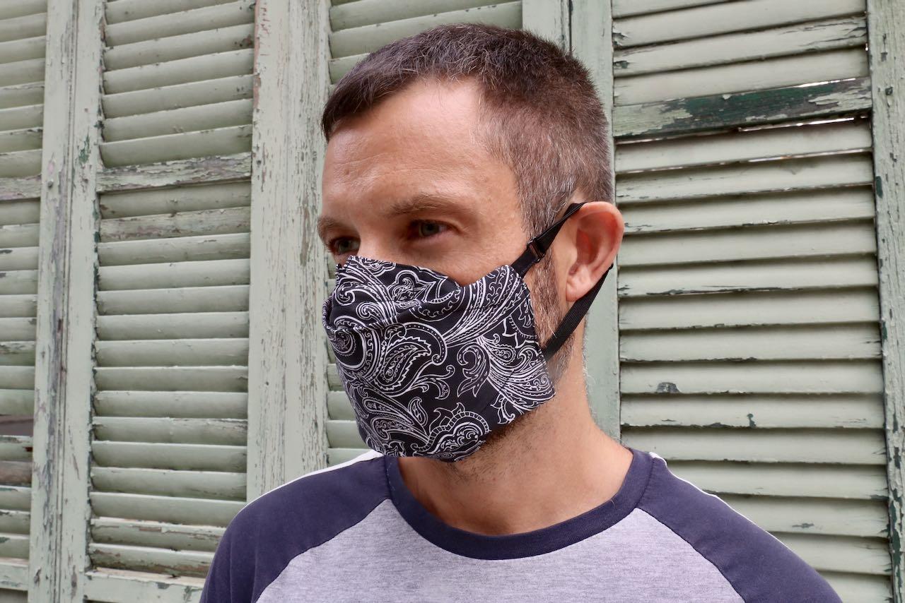 "Raphael wearing ""Let's Get Free"" mask by Jeff Alpaugh Custom."