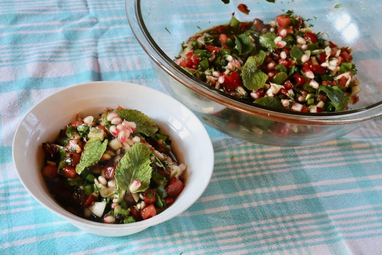 Enjoy Ezme Salata as a light lunch or side dish to a Turkish feast.