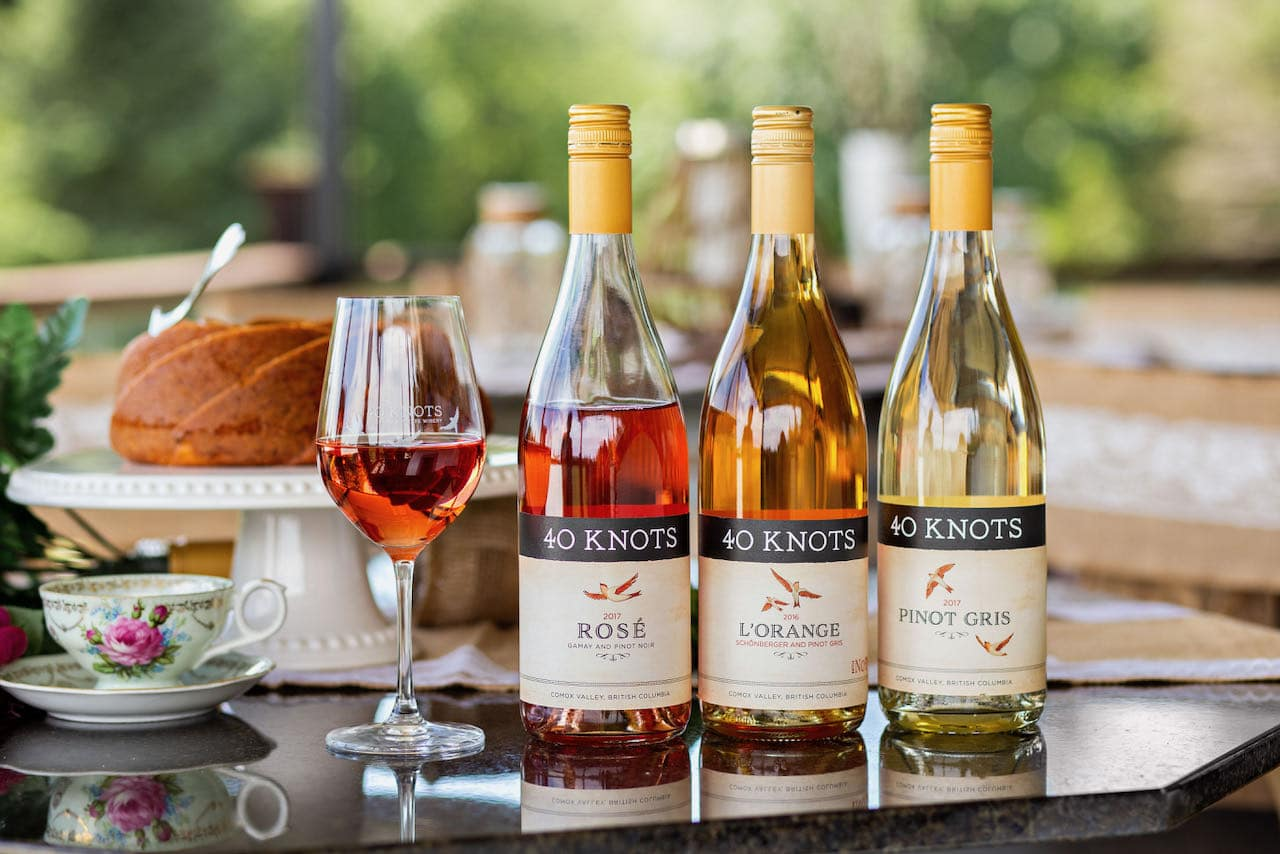 Sip Vancouver Island Wines near Comox at 40 Knots Estate Winery.