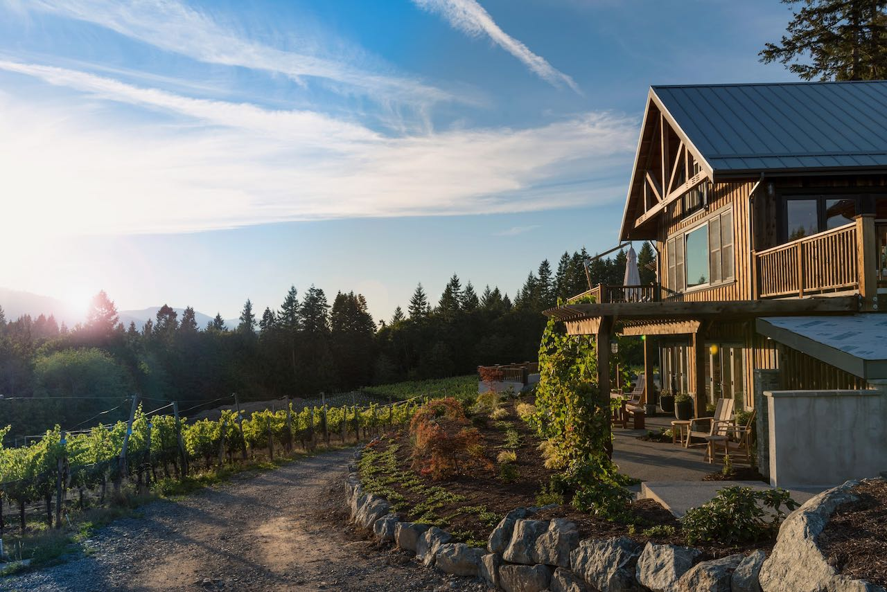 Blue Grouse Estate is one of the best Cowichan wineries offering accommodation. Photo Leanna Rathkelly.