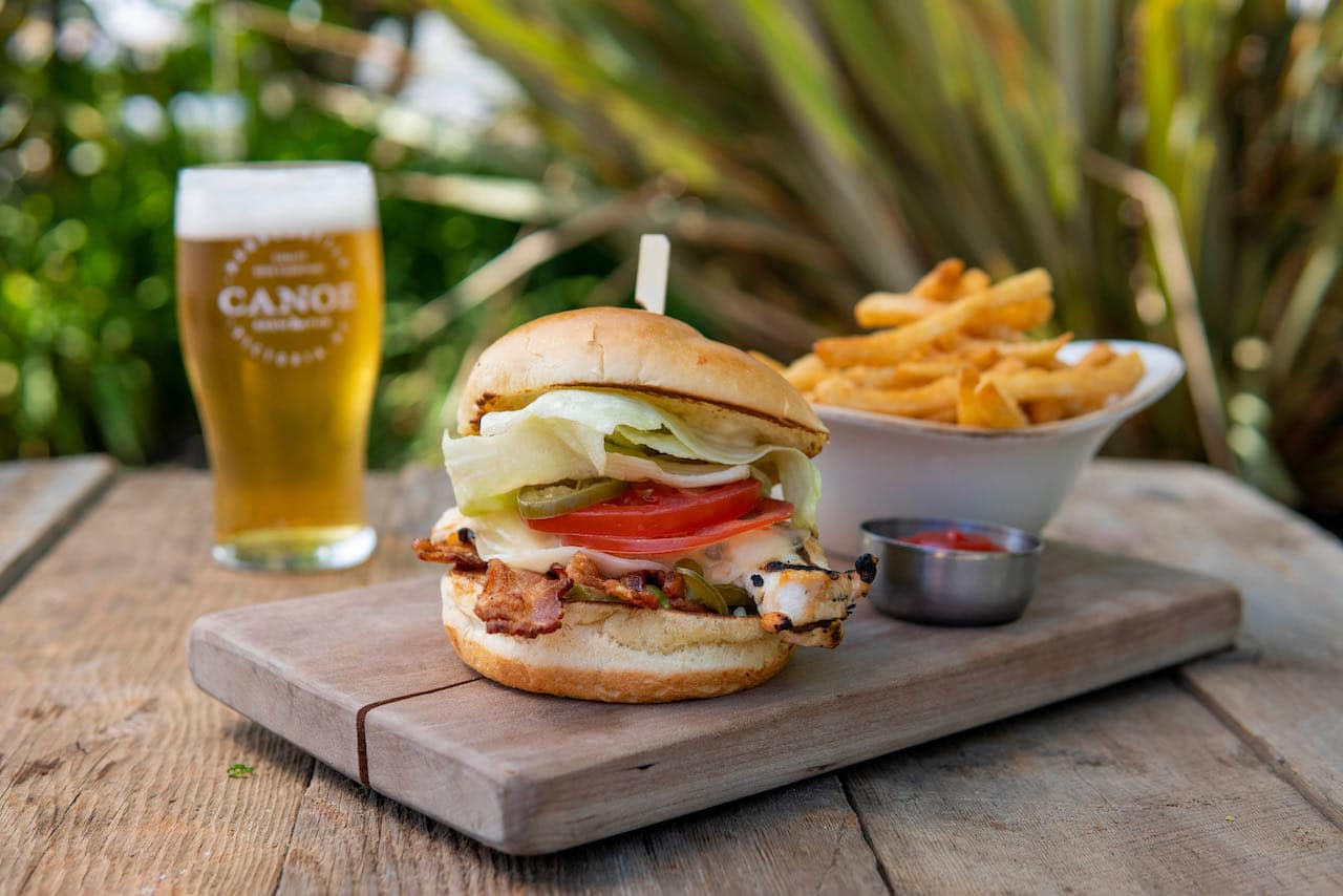 Canoe Brewpub is a Victoria craft brewery offering a restaurant and outdoor patio.