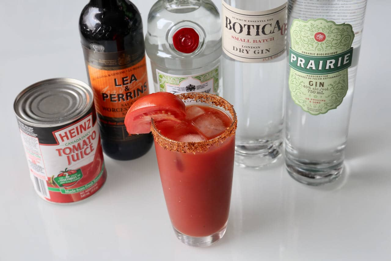 Have fun with the classic Bloody Mary recipe by substituting vodka for gin.