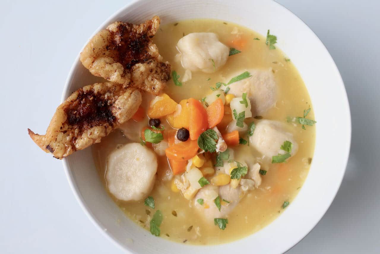 Easy Homemade Jamaican Chicken Soup with Dumplings Recipe