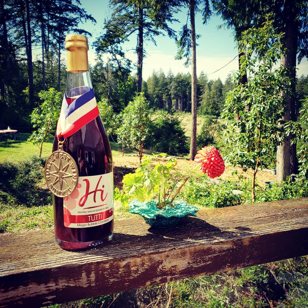 Award wining Vancouver Island Wines found at Hornby Island Estate Winery.