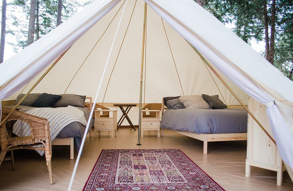 Hornby Island Glamping at Fossil Beach Cider House.