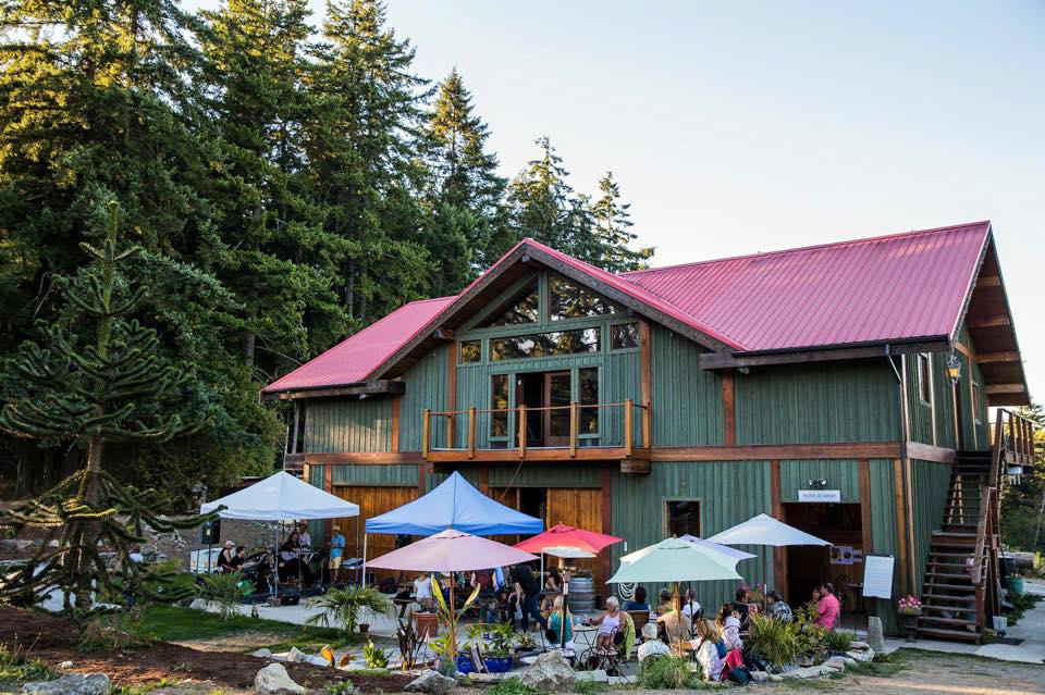 Order a tasting flight of Vancouver Island Wines at Millstone Estate.