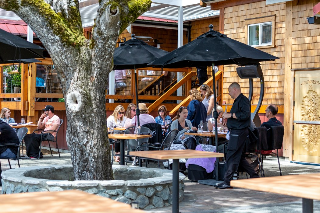 Unsworth Vineyards is one of the best wineries on Vancouver Island to enjoy lunch or dinner.