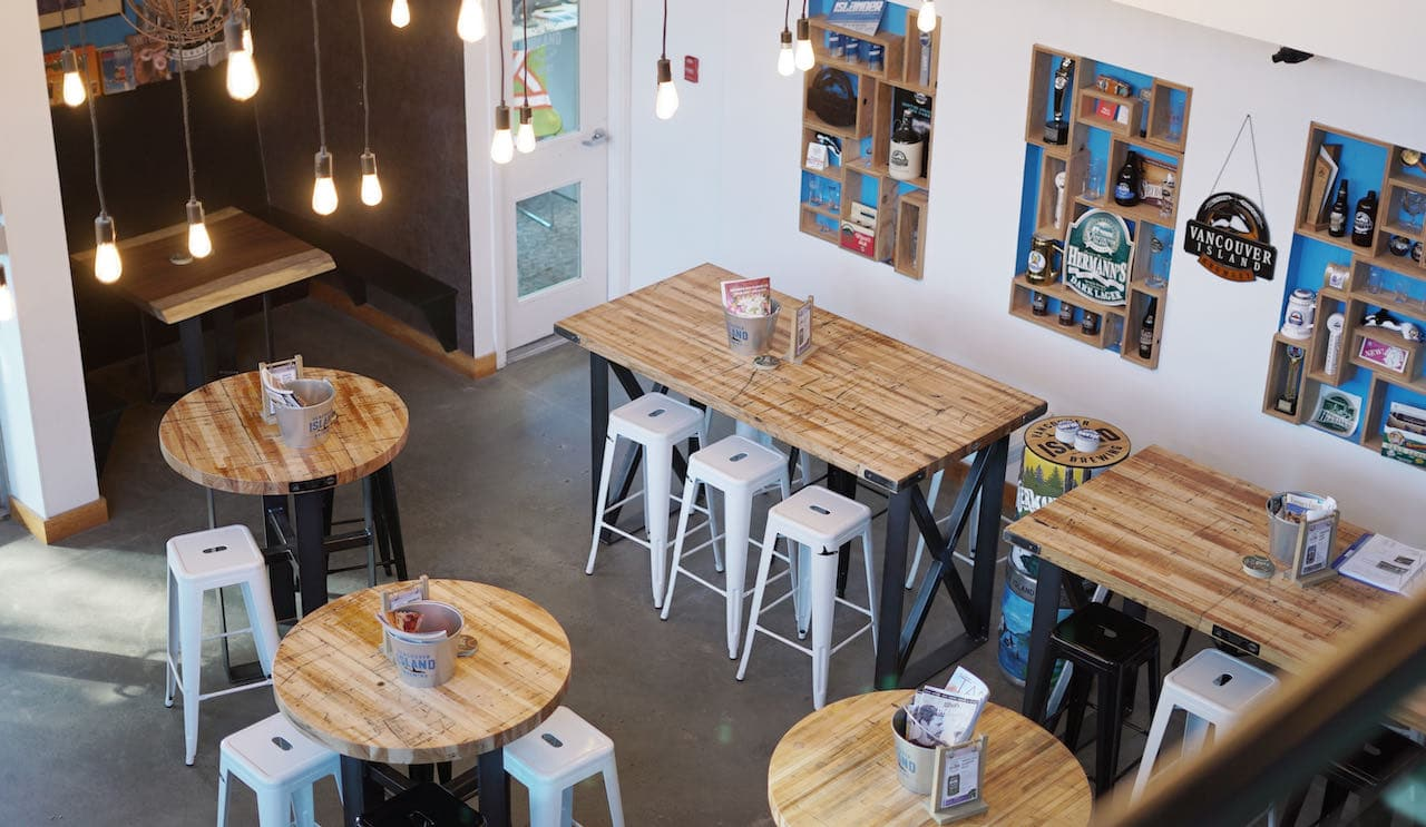 Vancouver Island Brewery offers a fun and friendly beer bar in downtown Victoria.
