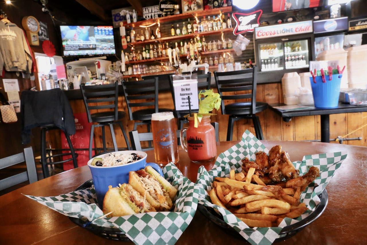 Best Port Carling Restaurants: Bala Falls Pub is a cozy pub serving wings, sandwiches and salads.