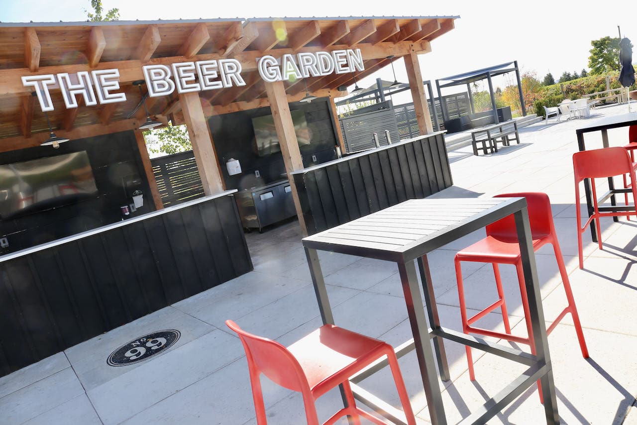Wayne Gretzky Estates produces small batch craft beer served on a seasonal Beer Garden.