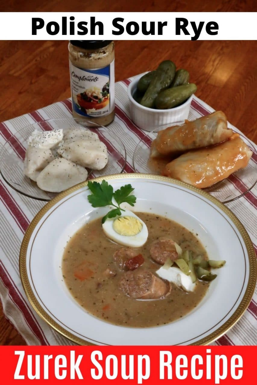 Save our easy homemade Polish Zurek Soup recipe to Pinterest!