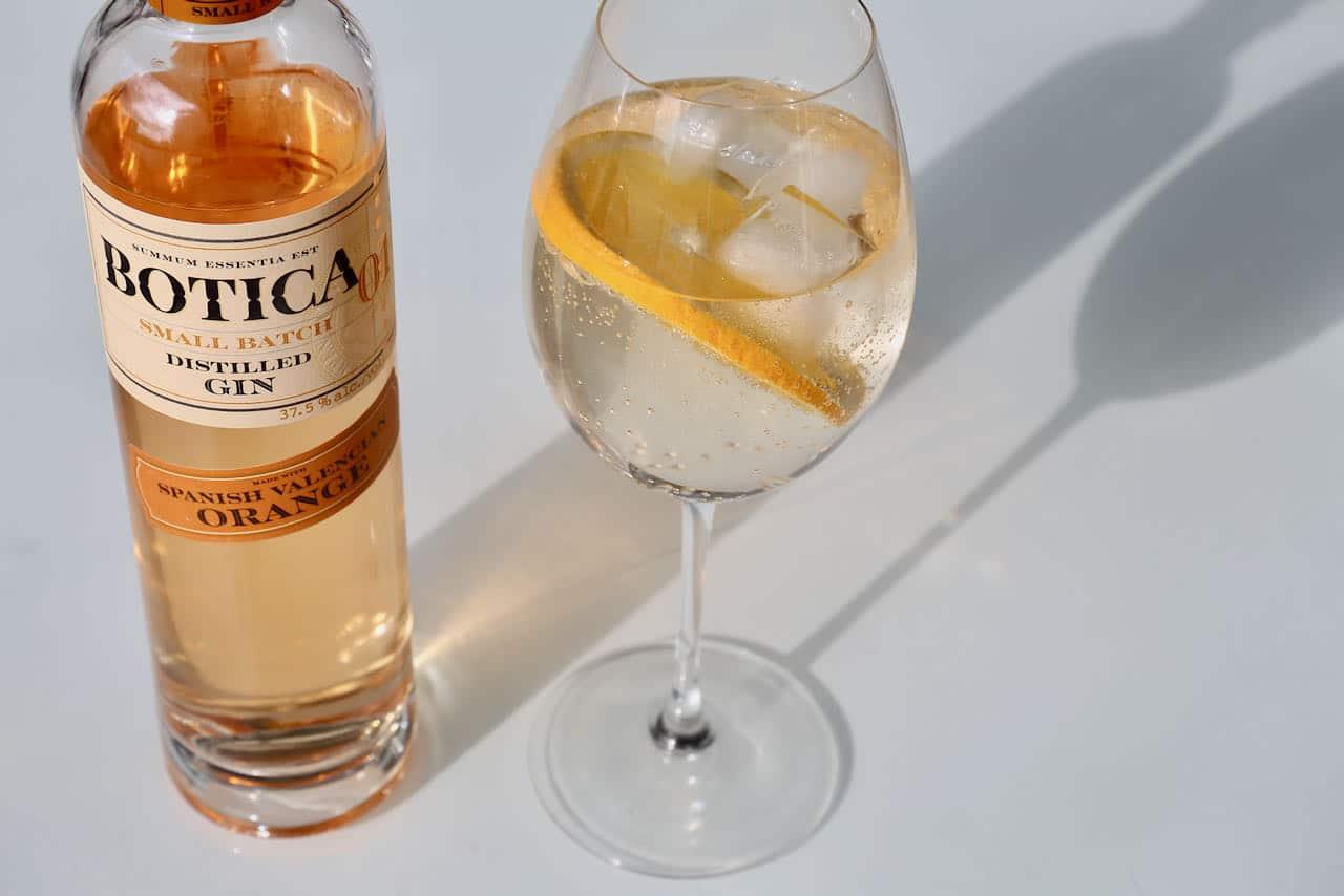 Botica Valencia Orange Gin makes a great spritzer.