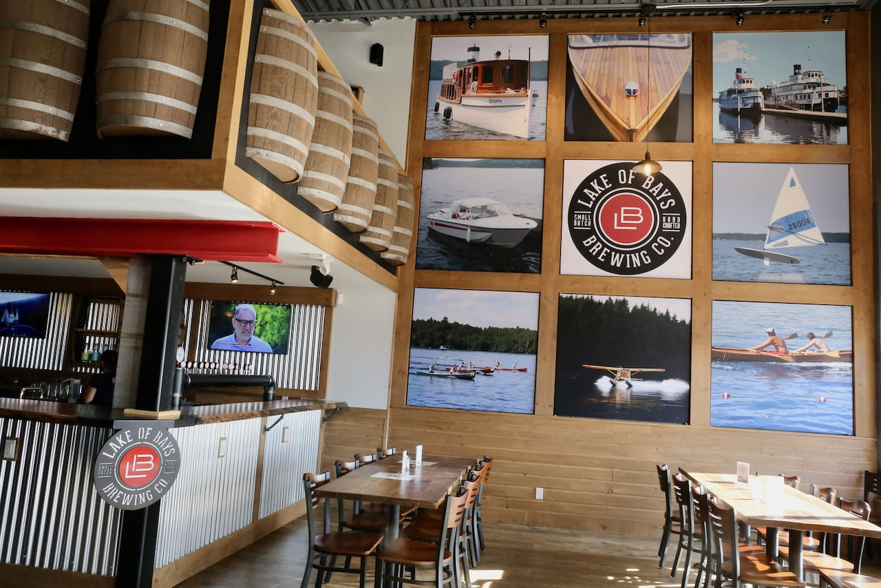 Sip craft beer paired with dishes made of local Muskoka ingredients at Bracebridge Barrelhouse.