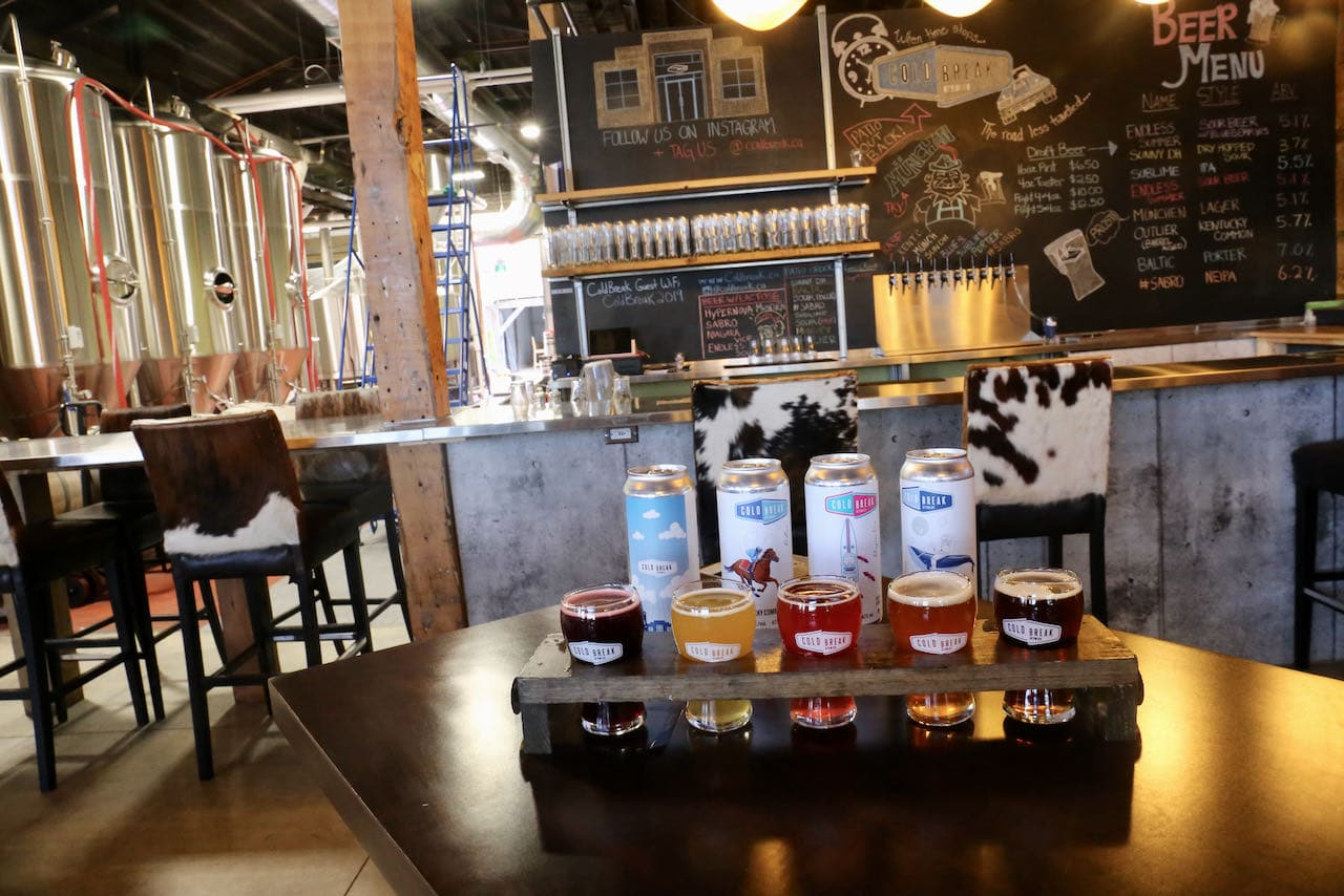Cold Break Brewing in St. Catherines serves craft beer at a bar and backyard patio.