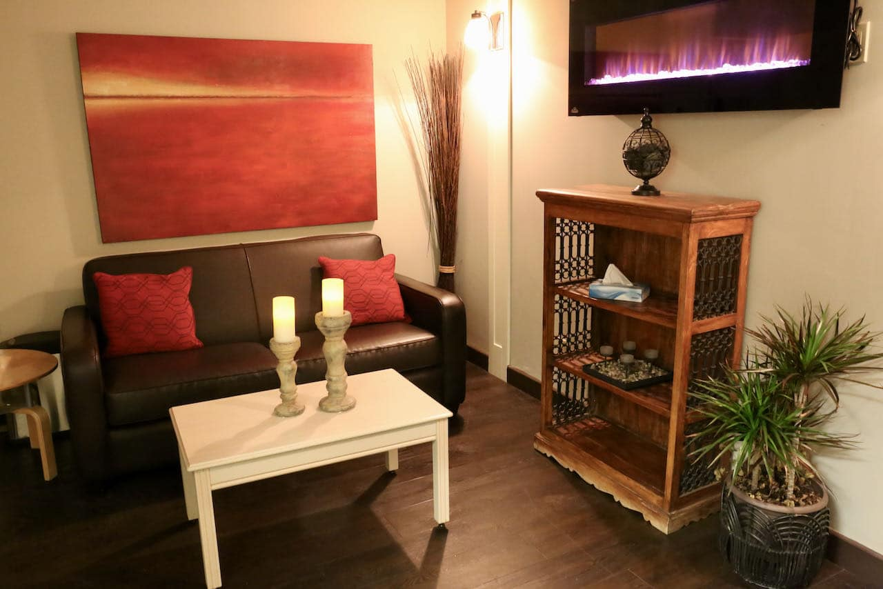 Best Muskoka Spas: Relaxation Room at Deerhurst Resort in Huntsville.