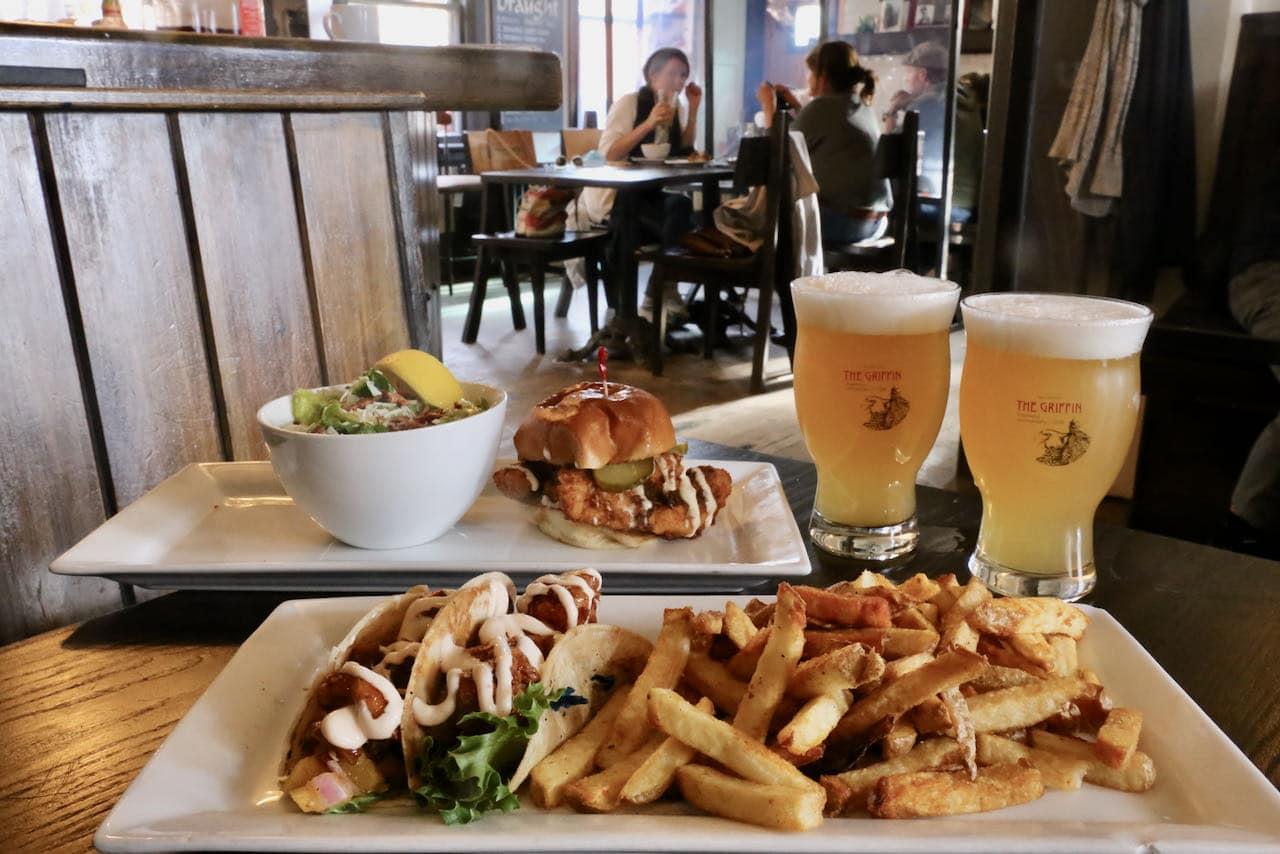 Bracebridge Restaurants: Griffin Gastropub serves Ontario craft beer and elevated pub fare.