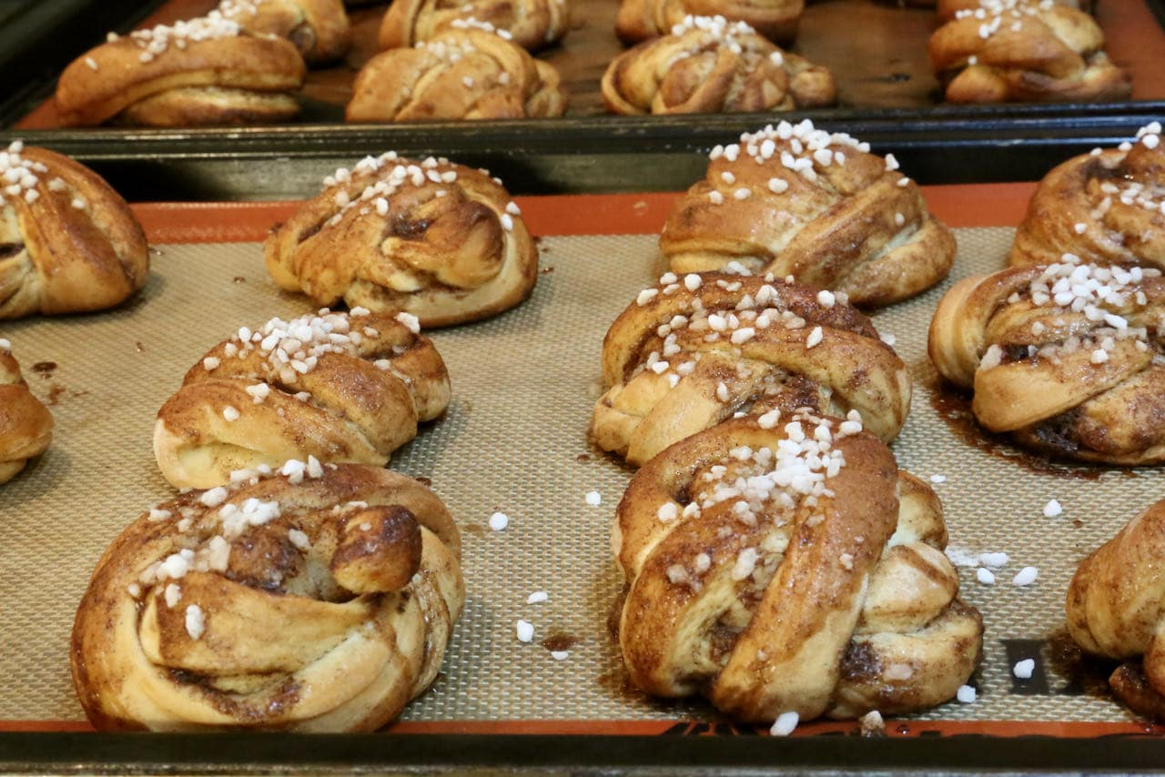 Let Swedish Cardamom Buns rest for 10 minutes before serving.