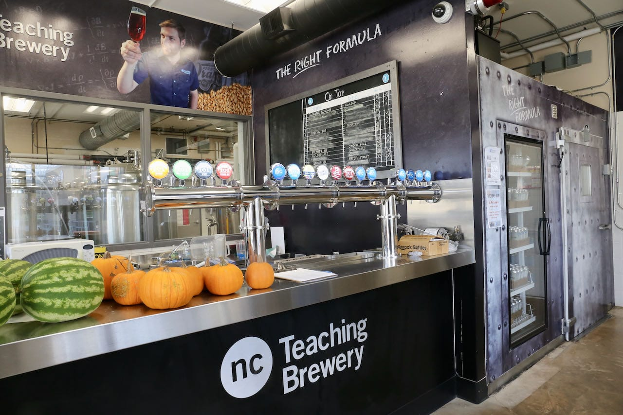 Niagara College Teaching Brewery features a tasting room and retail shop managed by students.