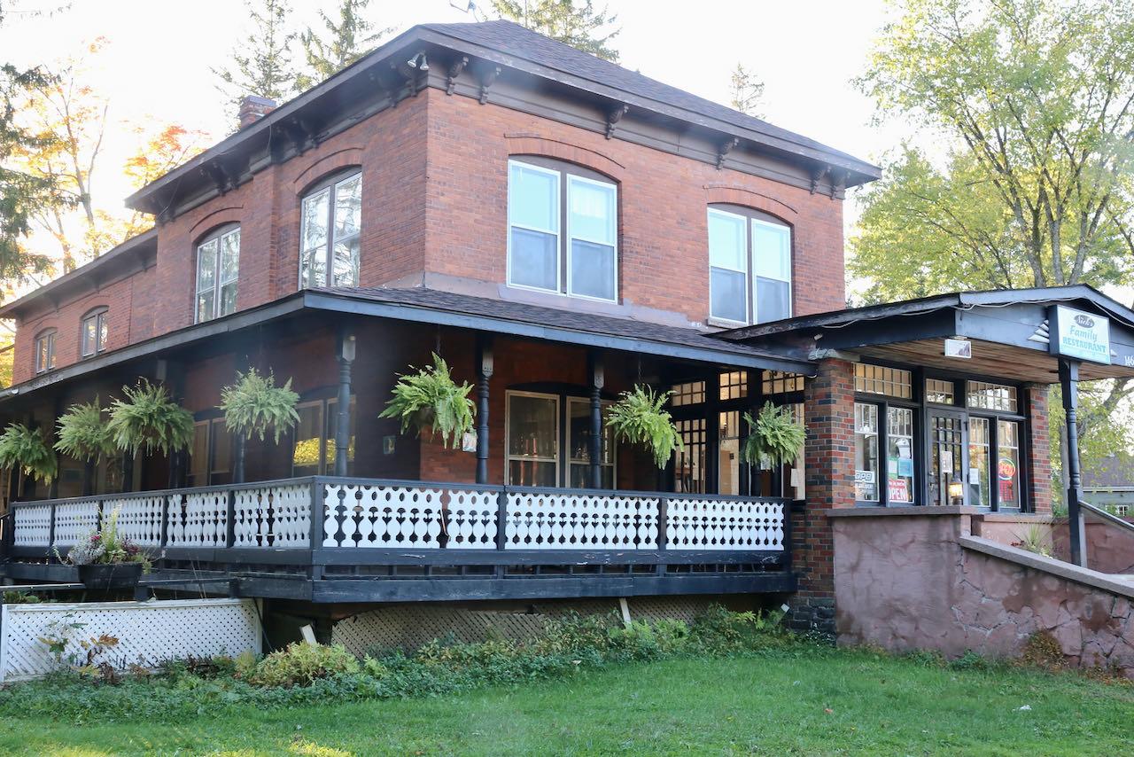Nick's Family Restaurant features a beautiful and spacious veranda.