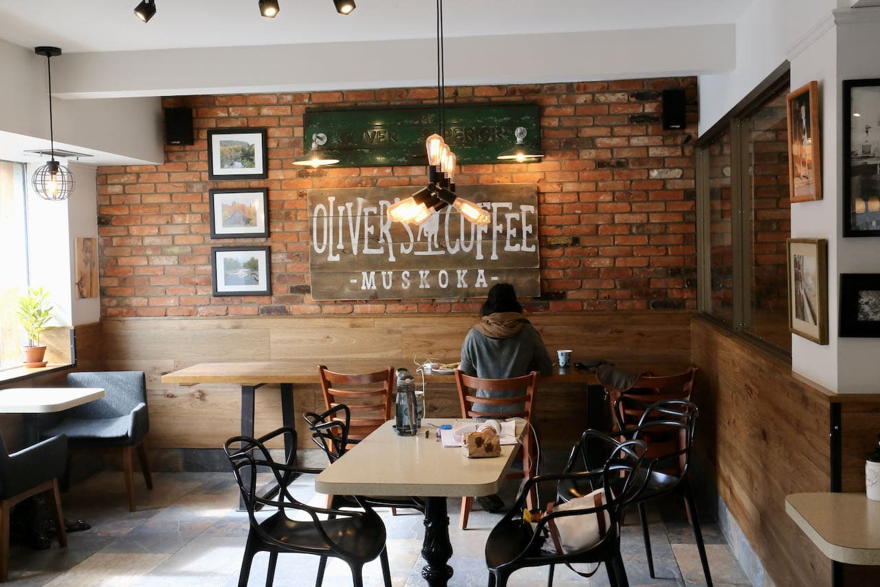 Oliver's Coffee is an upscale coffee shop and cafe in Bracebridge.