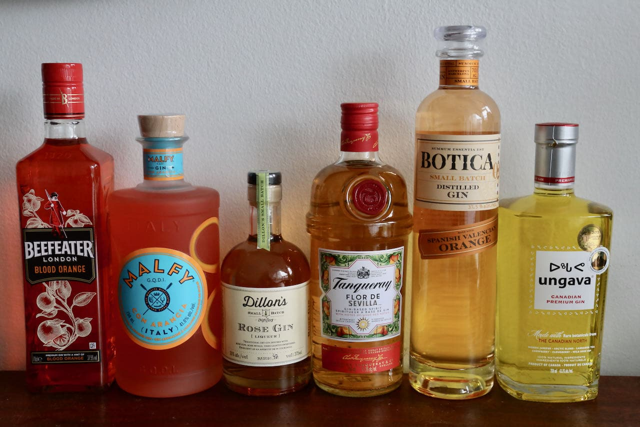 How to make homemade yellow and orange gin.