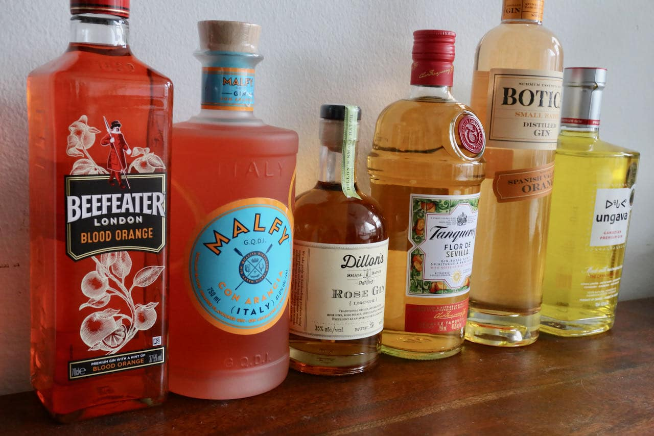 Sample the world's best yellow and orange gin bottles.