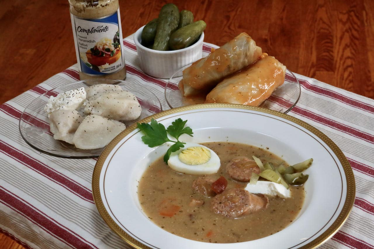 Traditional Polish Sour Rye Zurek Soup Recipe