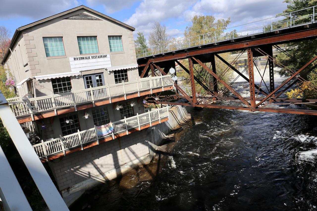 Best Bracebridge Restaurants: Riverwalk is a fine dining establishment that overlooks a waterfall.