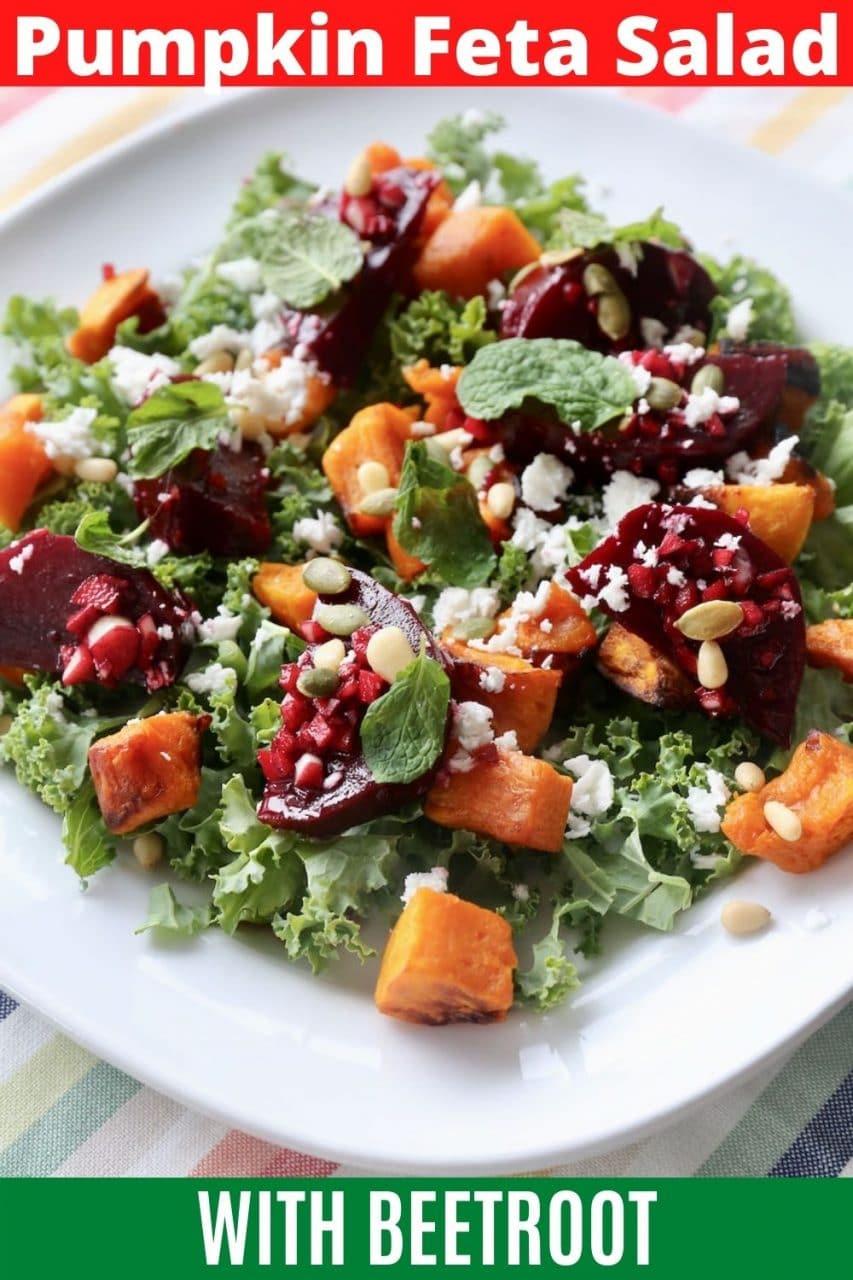 Save our Roasted Pumpkin Feta Salad recipe to Pinterest!