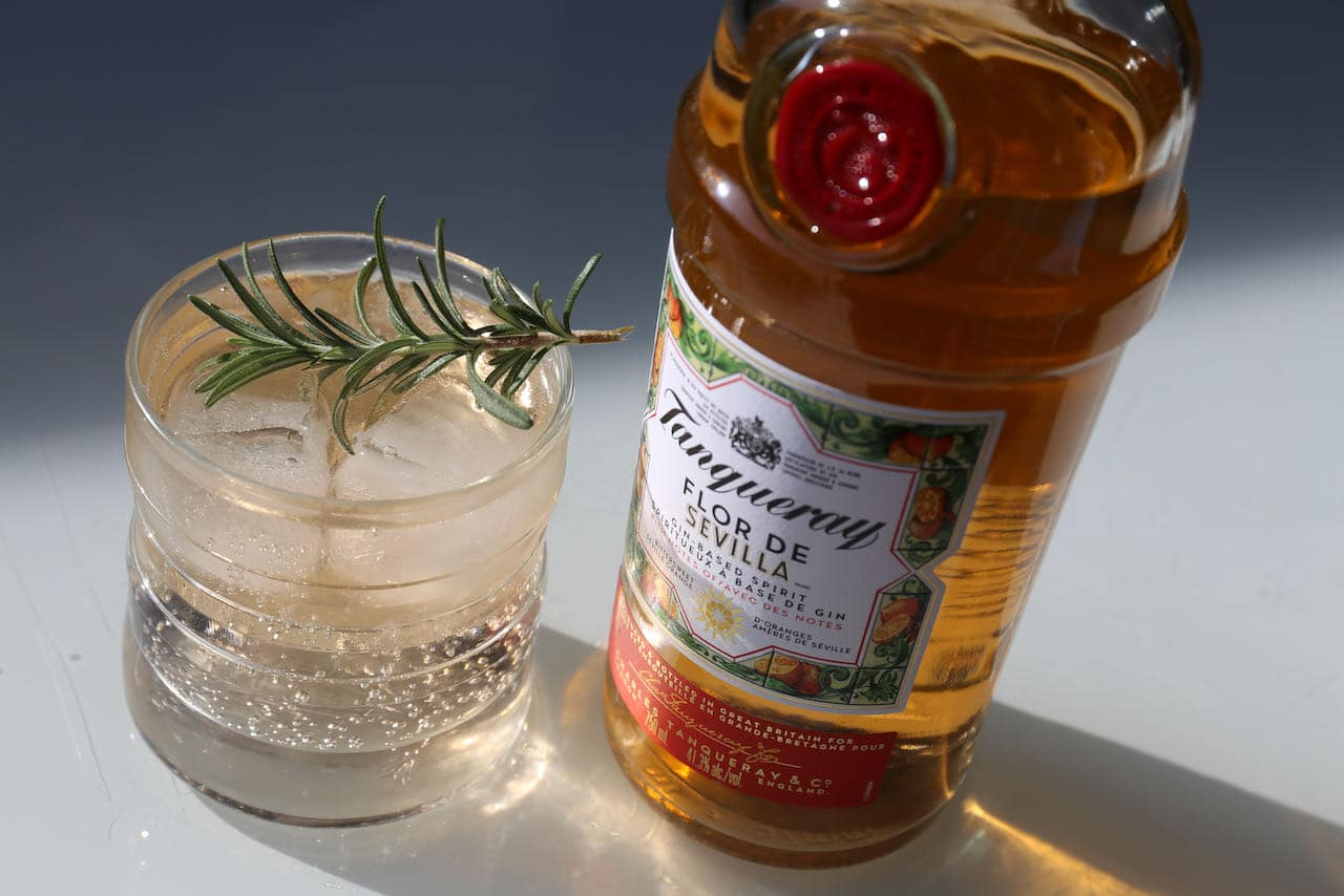 Tanqueray Flor de Sevilla tastes great with tonic water.