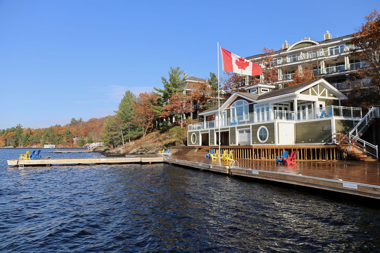 Touchstone Resort has the most impressive boathouse at any of the Muskoka hotels.