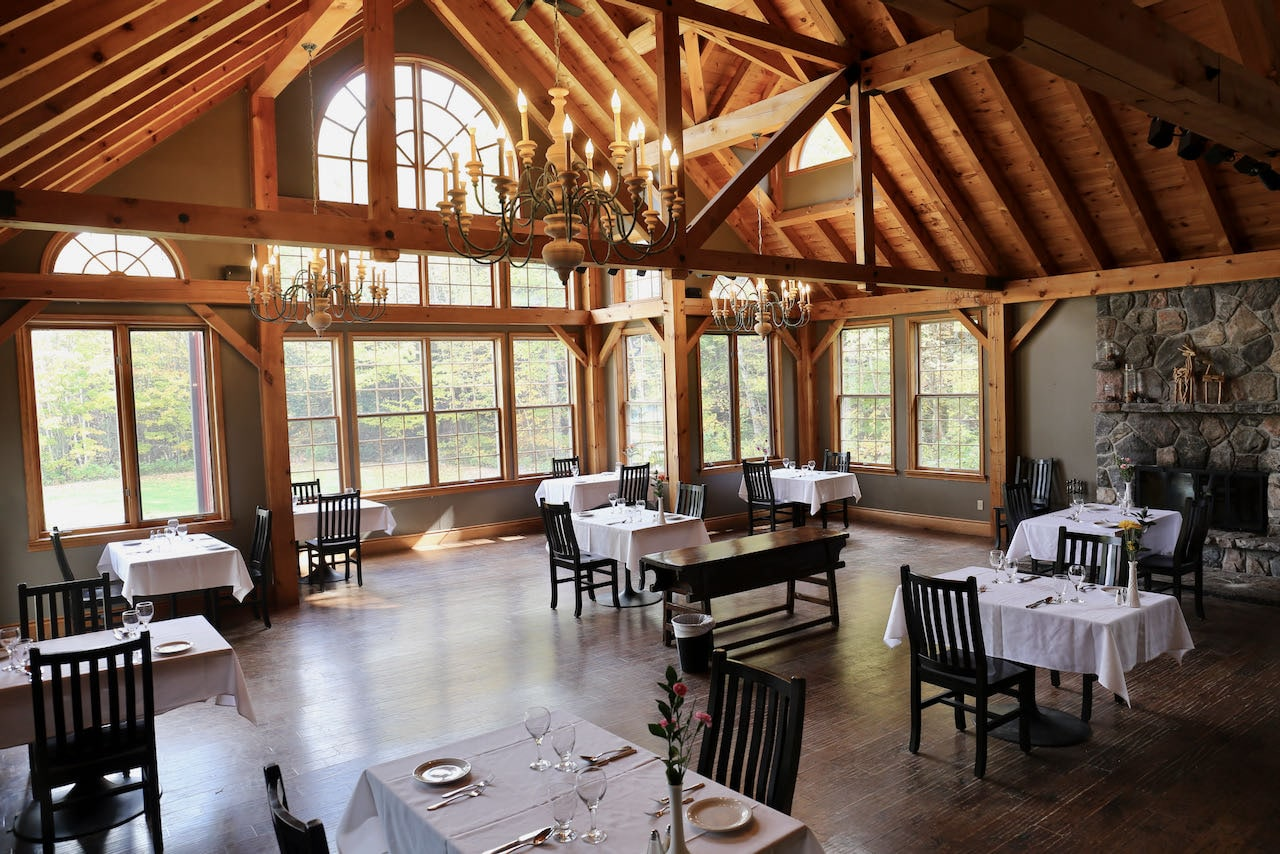 Of all the Muskoka Hotels, Trillium Resort offer the most romantic dining room.