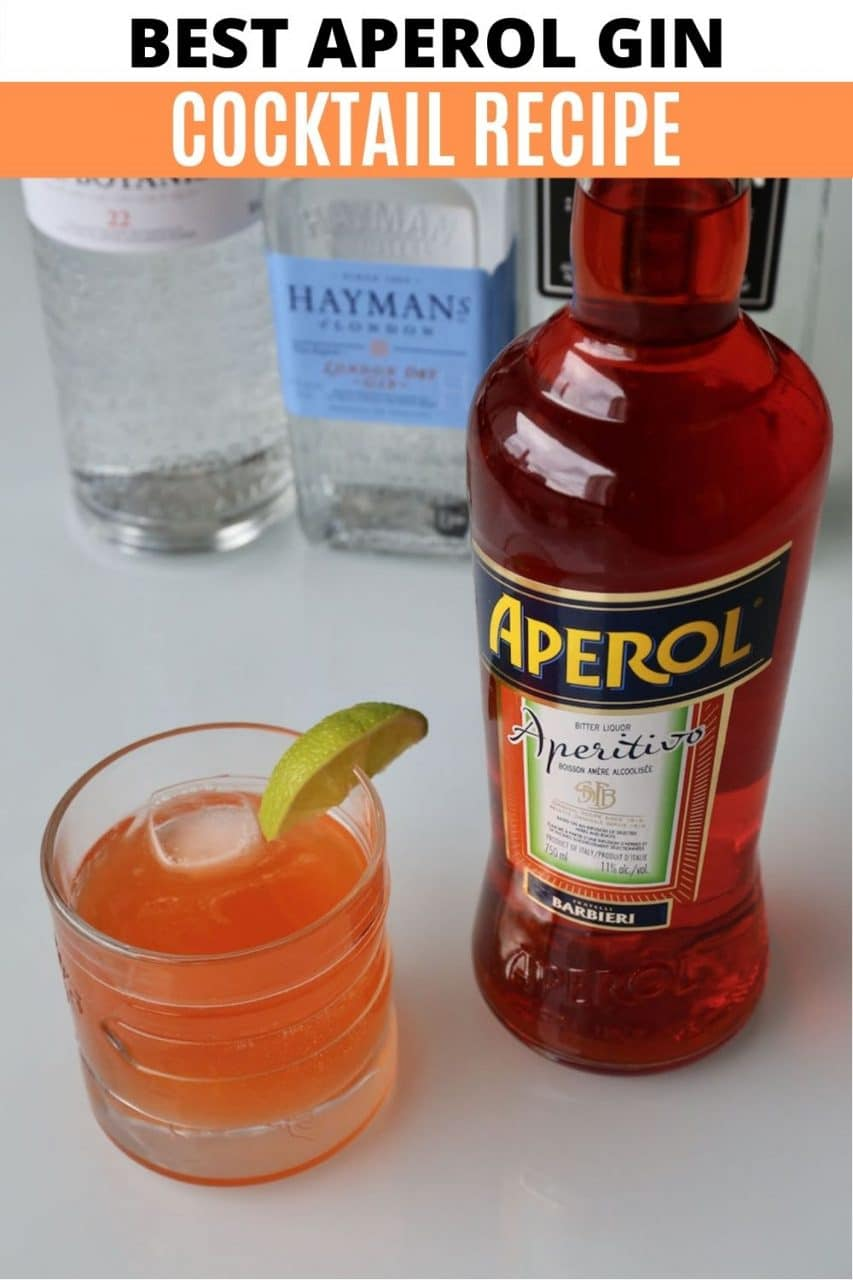 Save our Aperol Gin cocktail recipe to Pinterest!