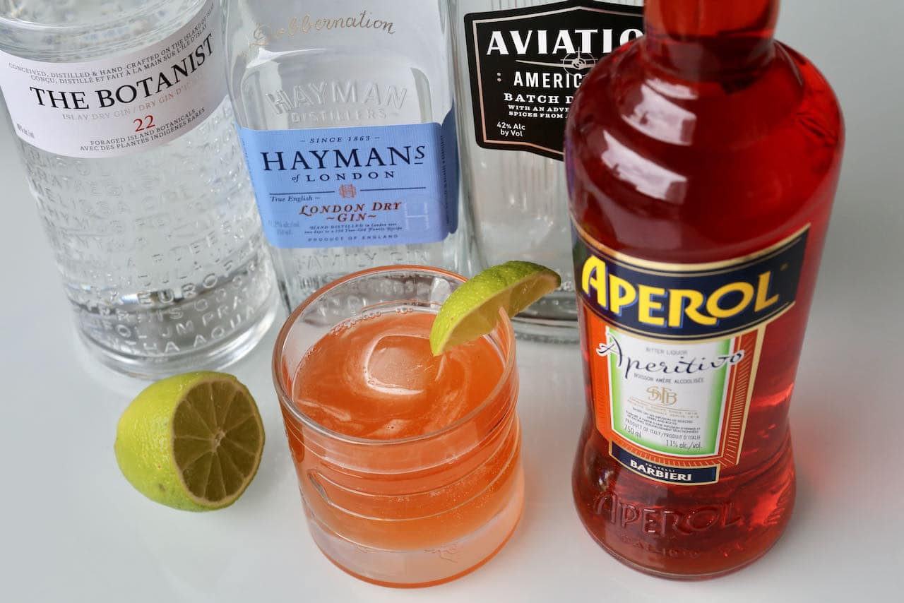 We love serving Aperol Gin cocktails during the summer as they are refreshing on a hot day.
