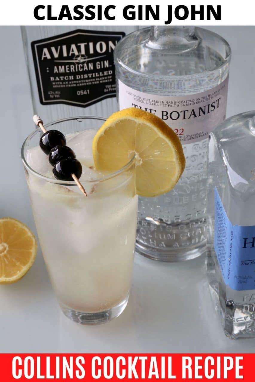 Save our Gin John Collins Drink recipe to Pinterest!