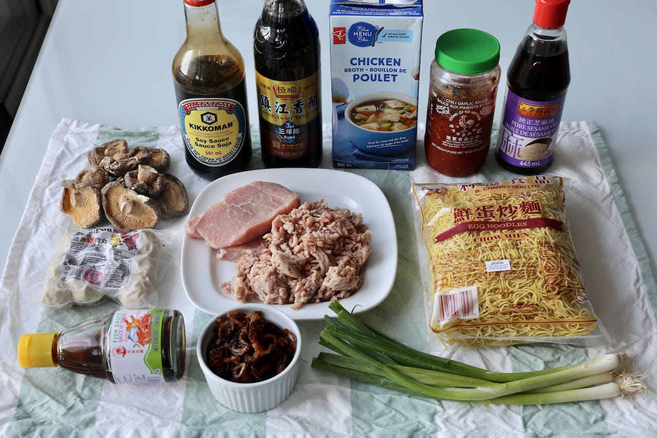 Ingredients you'll need to make traditional Bak Chor Mee.