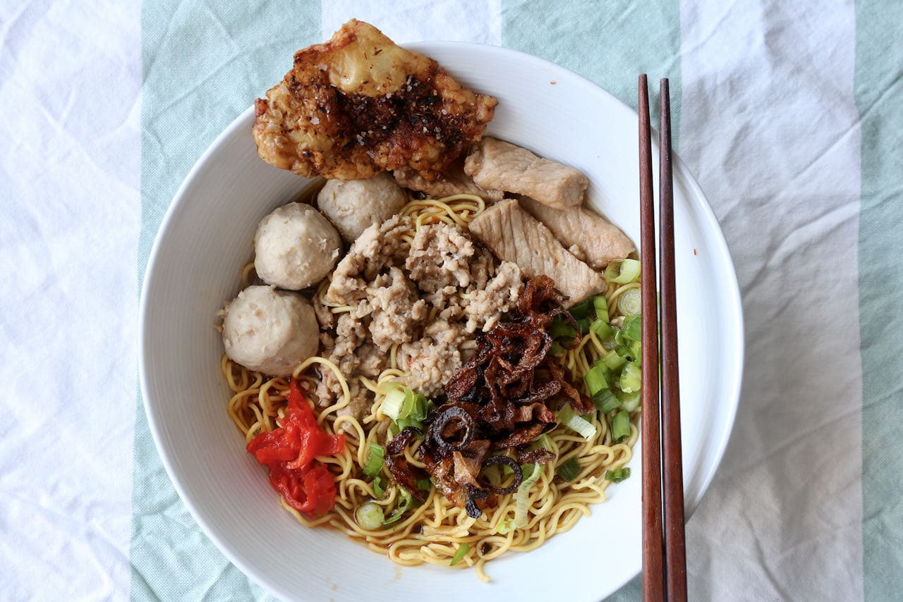 We love to cook comforting bowls of Bak Chor Mee during the colder months of the year.