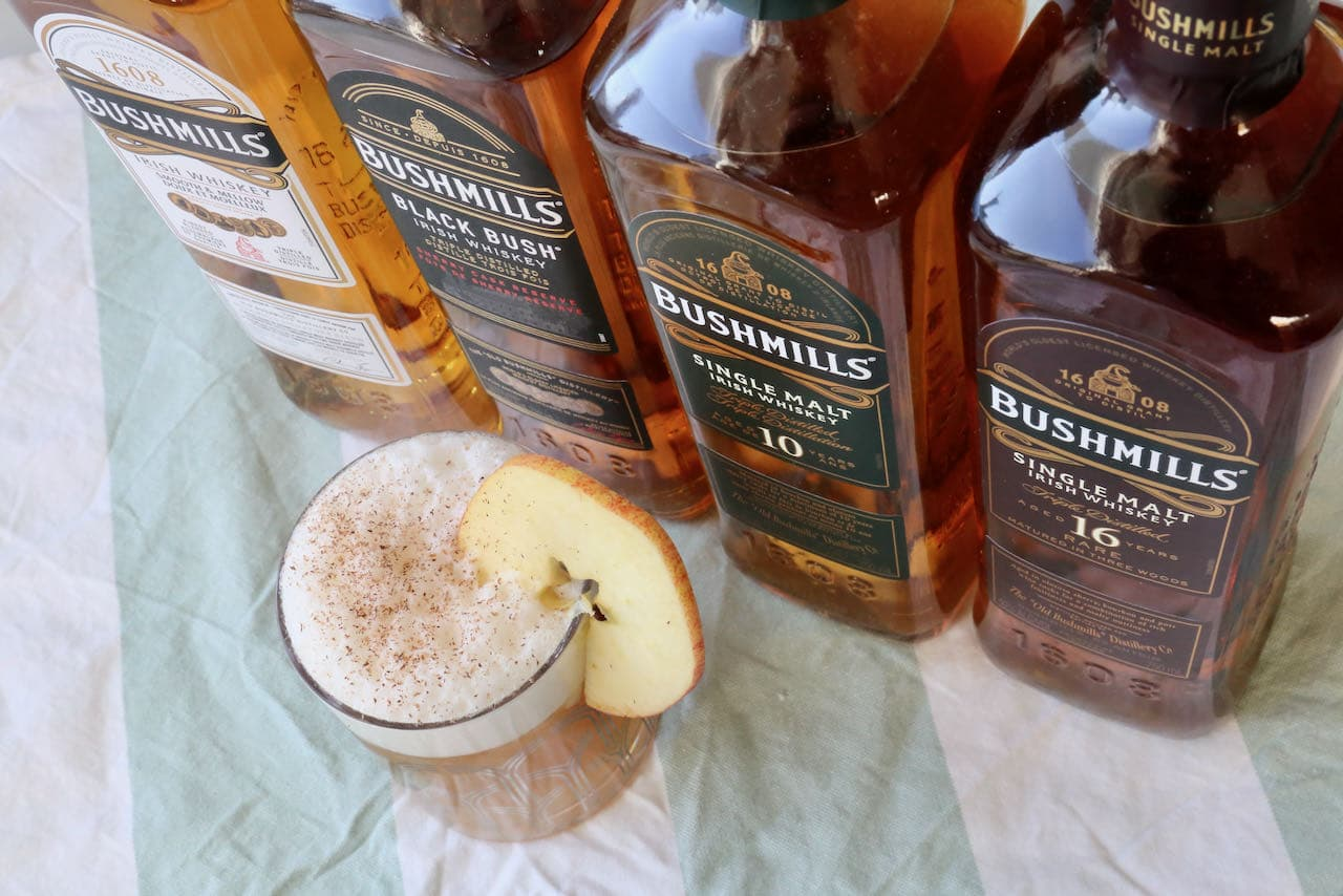 This Bushmills Cocktail is festive, popular in the fall at Thanksgiving and winter during Christmas.